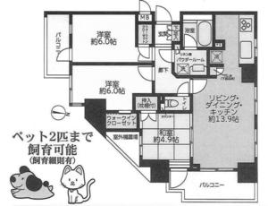 江戸川区西瑞江リンテージコート一之江の間取り図